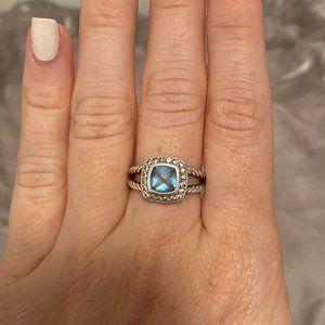 David Yurman Albion Petite Ring (blue topaz)